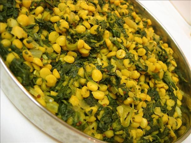 Chana Dal Yellow Lentils) With Spinach Recipe - Food.com