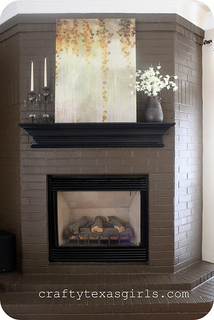 Love The Shelf Above The Fireplace Home Make Over