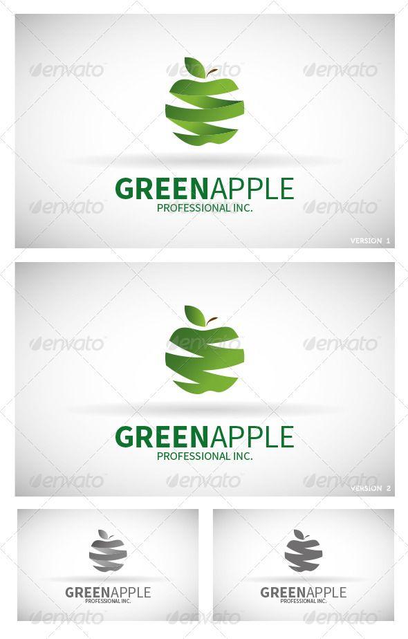Found on graphicriver netGreen Apple Logo