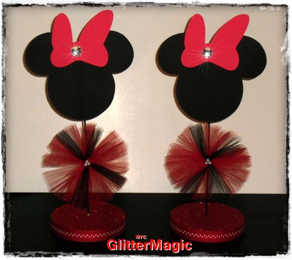 Minnie mouse centerpiece red inspired