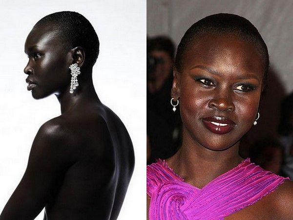 Model Alek Wek. Bald is beautiful! | Bald Women | Pinterest