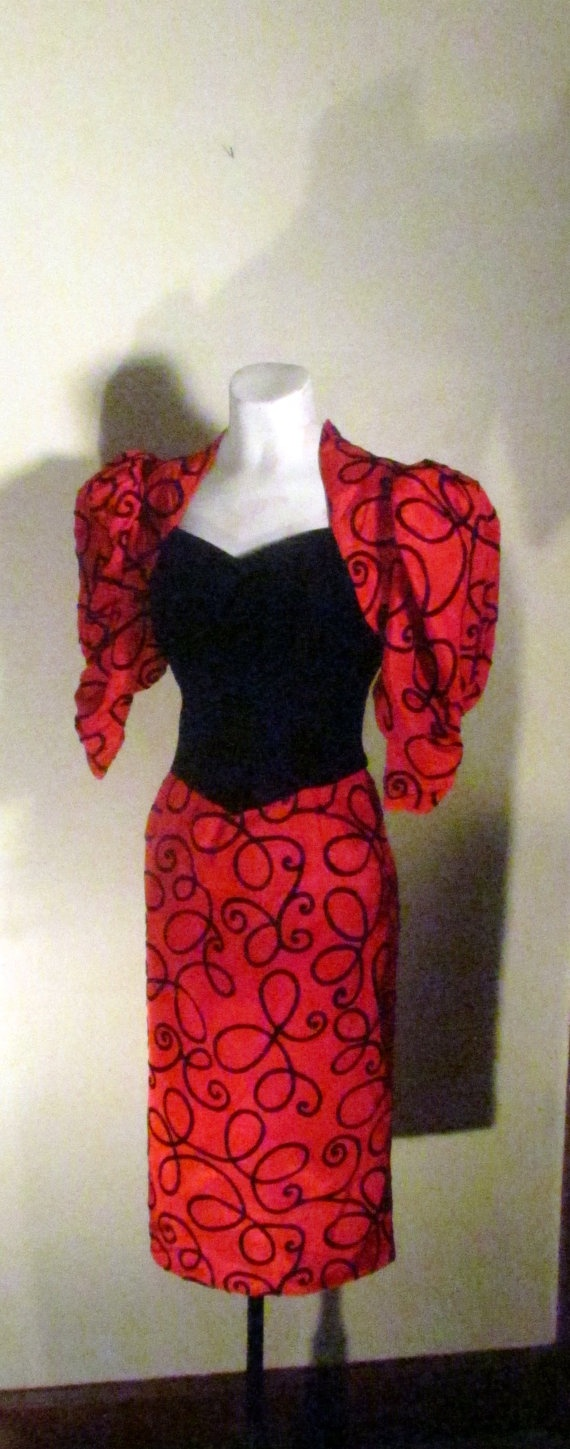 Gorgeous gunne sax red holiday wiggle dress by gretelsboutique 178