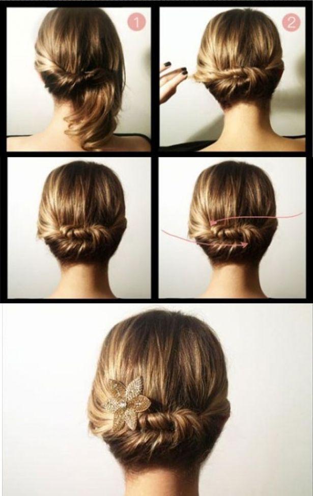 peinados para cabello corto paso a paso - Buscar con Google