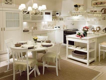 Cocina vintaje color blanco roto marfil cocinas - Cocinas blanco roto ...