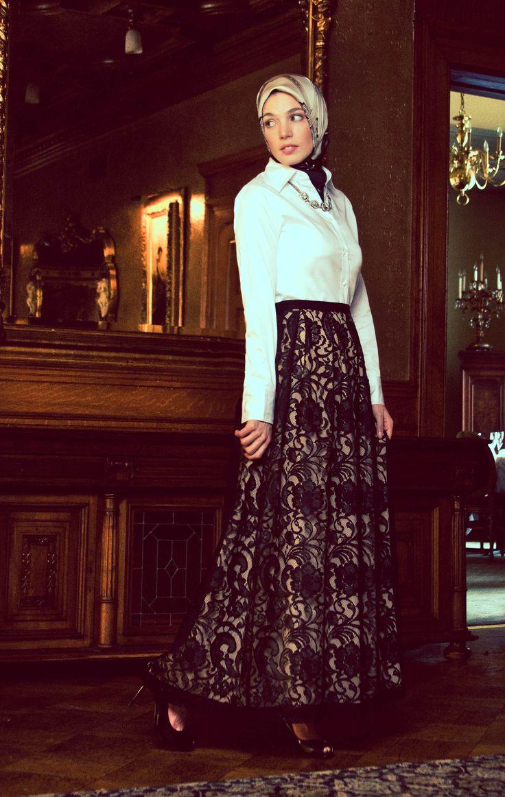 Haute Hijab Flared Lace Maxi My Style Pinterest
