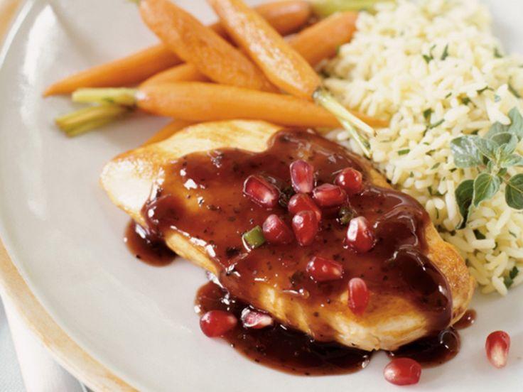 Pomegranate Balsamic-Glazed Chicken