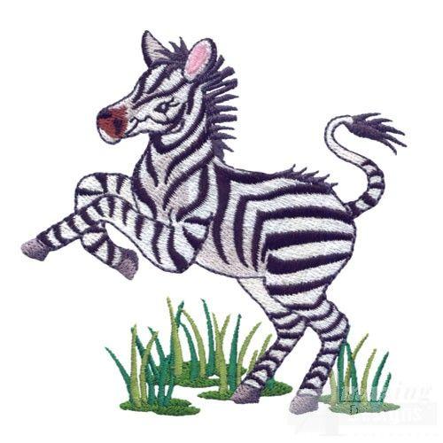 Baby zebra machine embroidery designs pinterest