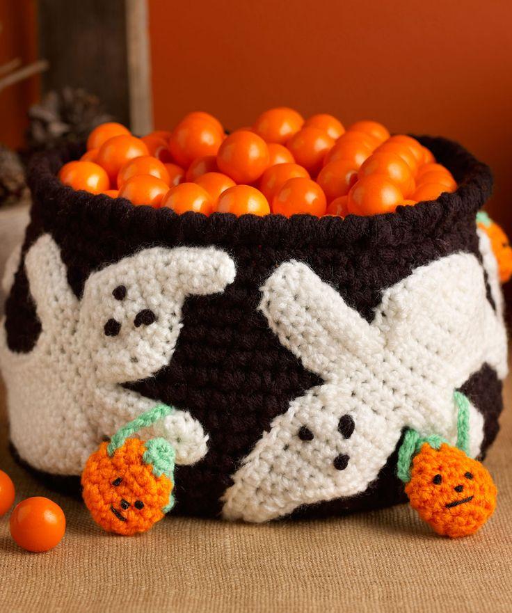 Free Crochet Ghostly Candy Bowl Pattern Crochet ...