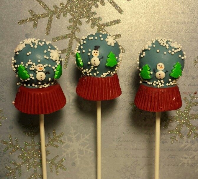 Christmas Cake Pop Ideas Pinterest : Snow globe Christmas cake pops Ideas for cake balls ...