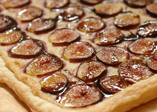 "Fig Tart with Bleu Cheeze Cream and Balsamic – ""Honey"" Drizzle"