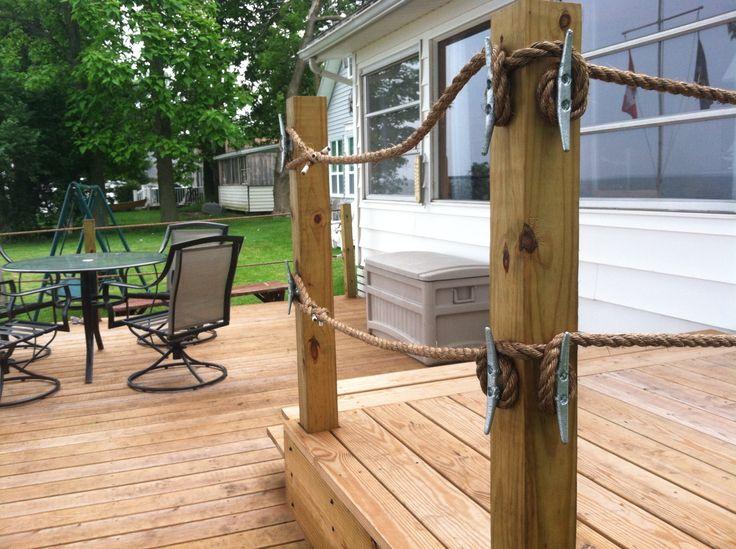Deck cleats 5 8 quot rope cottage pictures pinterest