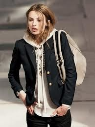 blazer with hoodie | Fashion | Pinterest