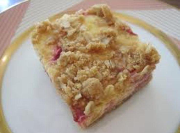 Sour Cream Rhubarb Squares | Rhubarb Recipes | Pinterest