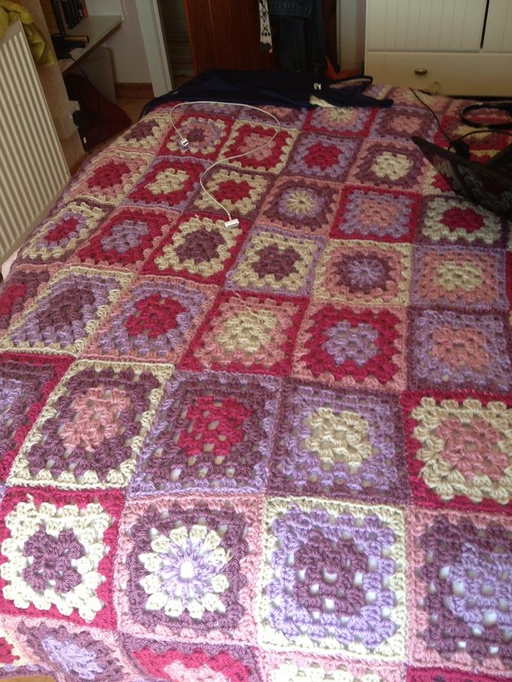 Crocheting Quilts : Crocheted quilt crochet quilt Pinterest