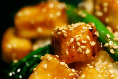 Better than takeout sesame tofu. Tofu's never turned out for me, but I ...