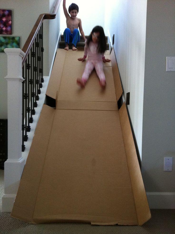 Cardboard Slide - FUN!!