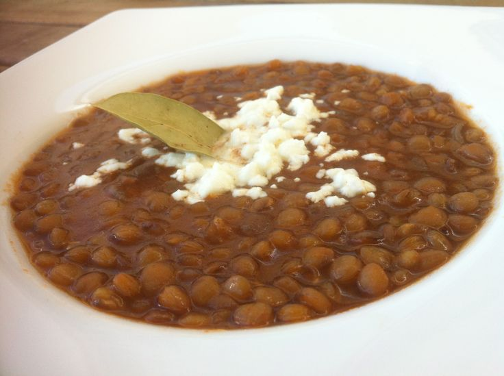 Greek Lentil Soup With Red Pepper And Feta Recipe — Dishmaps