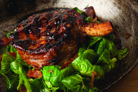 Fall Finale | Hoisin-marinated pork chop at Paul Martin's American ...