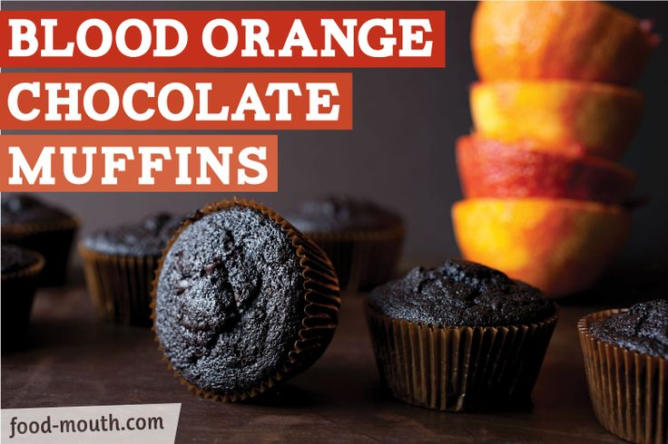 blood orange chocolate muffins | food. | Pinterest