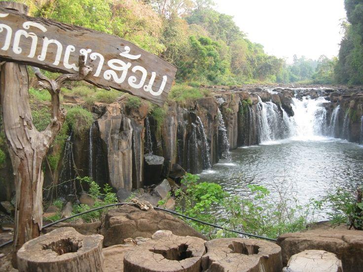 Thác Phasom một trong những địa danh du lịch nổi tiếng của tỉnh Champasak