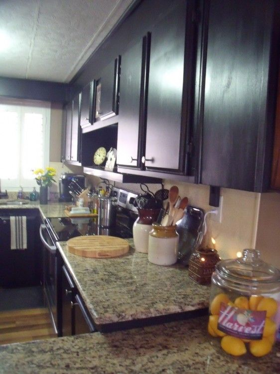 Manufactured home decorating a very merry double wide Mobile home kitchen remodel pictures
