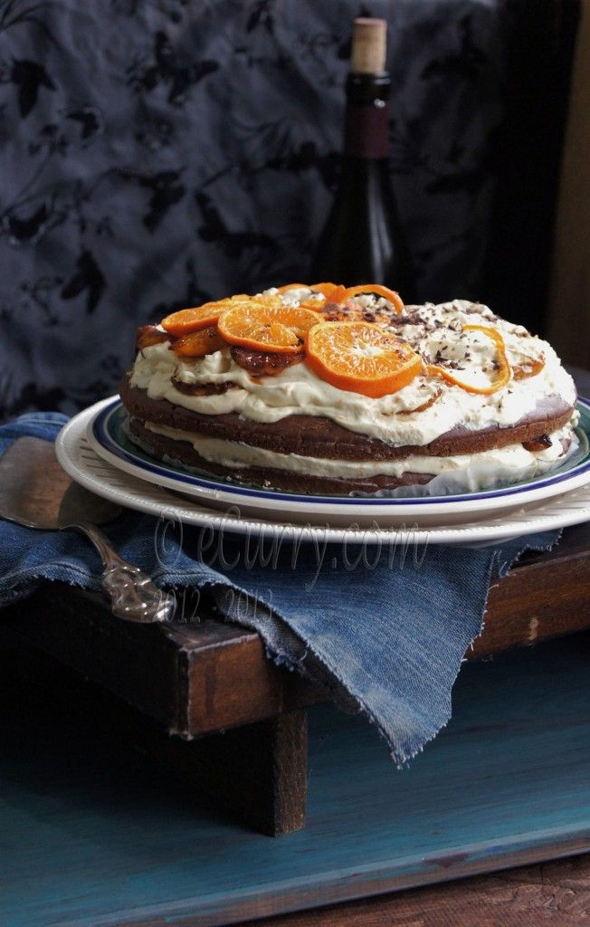 Caramelized Orange and Chocolate Layer Cake from eCurry (http ...