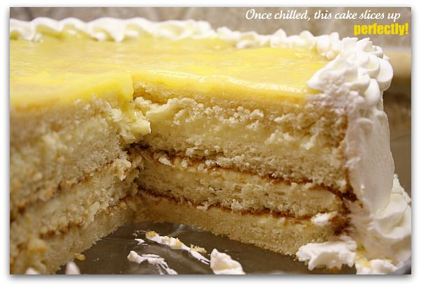 cake with cream cheese/white chocolate/lemon curd filling and whipped ...