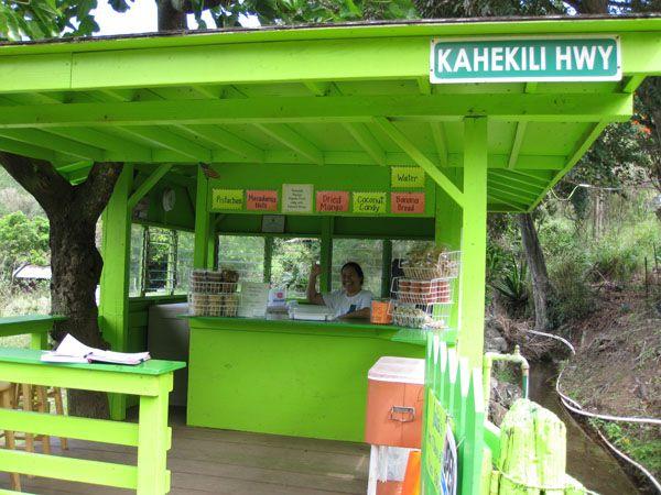 Kahakuloa...Julia's Banana Bread, sugared coconut & coconut cashews ...