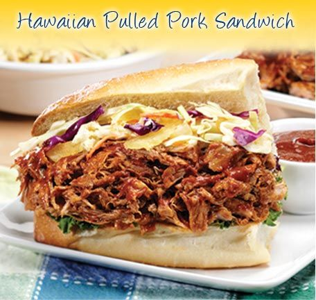 Hawaiian Pulled Pork Sandwiches with Tangy Sunsweet Prune BBQ Sauce ...