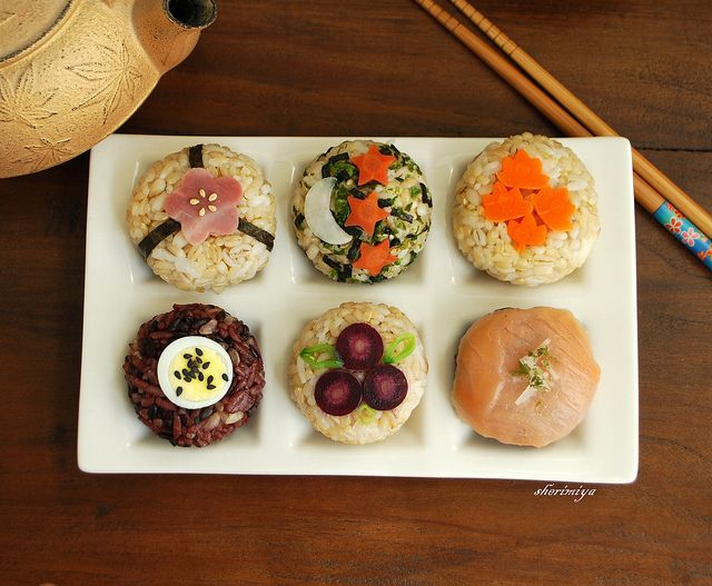 ~ Temarizushi are small, ball-shaped sushi made with salmon ...
