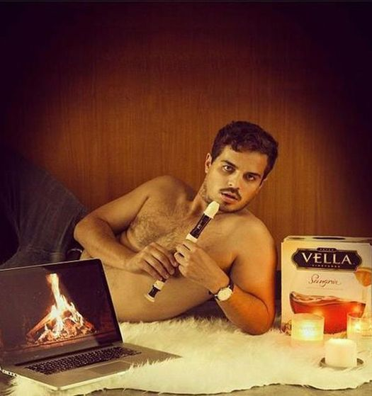 Man posing with Box Wine Recorder Fire on Laptop Epic Sexy Fails Bad Glamor Shots Dating Sites Profile Pics Awkward Family Photos