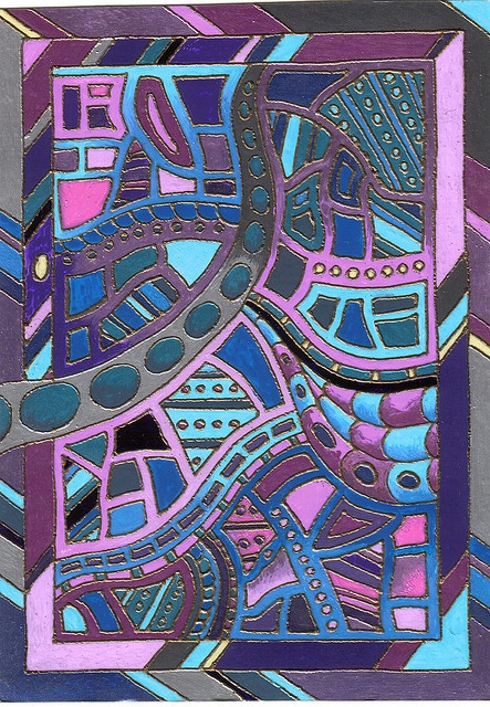 violet and blue