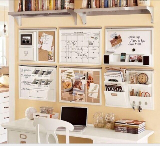 Small Kitchen Office Organization