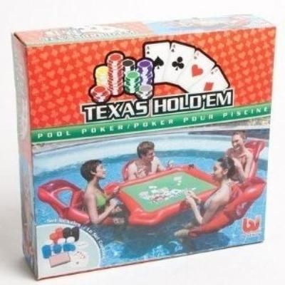 Em inflatable pool poker set w card table floating lounge chairs