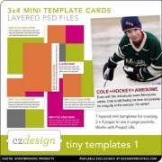 tiny templates perfect for project life (3x4 sized)