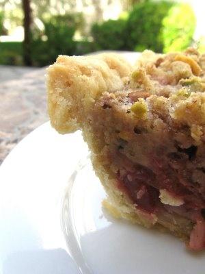 Sour Cherry Pie with Pistachio Crumble | Cherries | Pinterest
