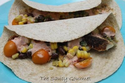 Blackened Fish Tacos The Saucy Gourmet | Food Glorious Food!!! | Pin ...