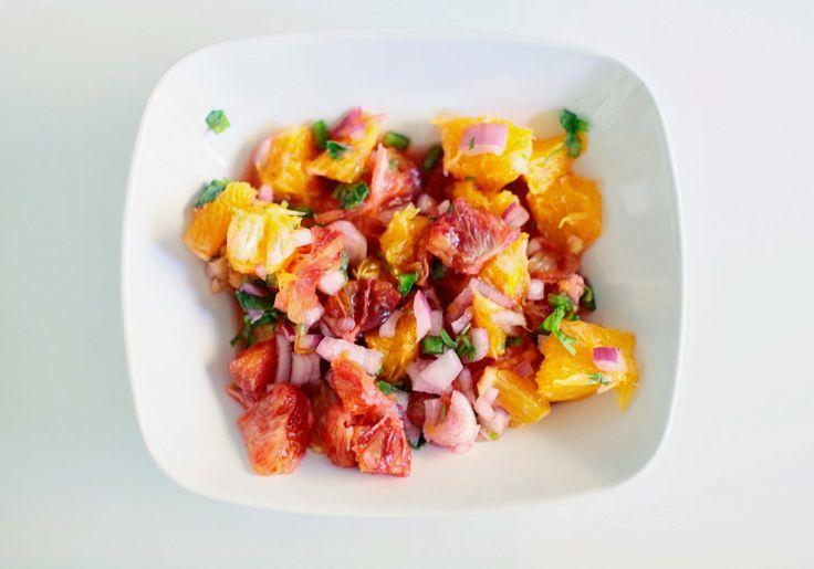 Brunch ~ Crispy Fish Tacos with Blood Orange Salsa