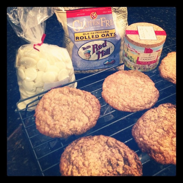 Crisp Salted Oatmeal & White Chocolate Cookies. Click through for ...