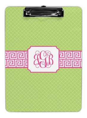 Greek Key Band Pink Clipboards
