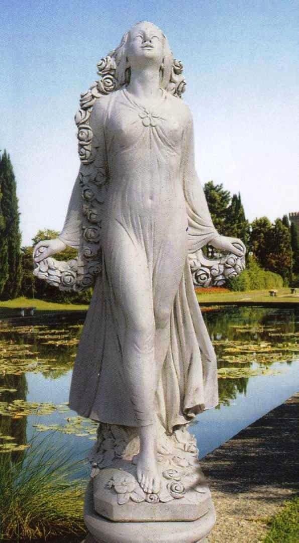 Roman Goddess Flora Statue Secret Gardens Pinterest