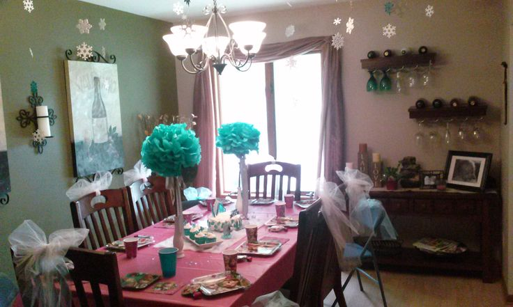 Dining Room Set Up Frozen Party For Taira 39 S 5th Birthday Pinterest