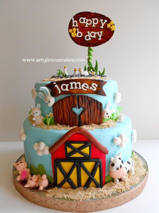Farm birthday cake by Artylicious Cakes (7/2/2012)  View cake details here: http://cakesdecor.com/cakes/20317