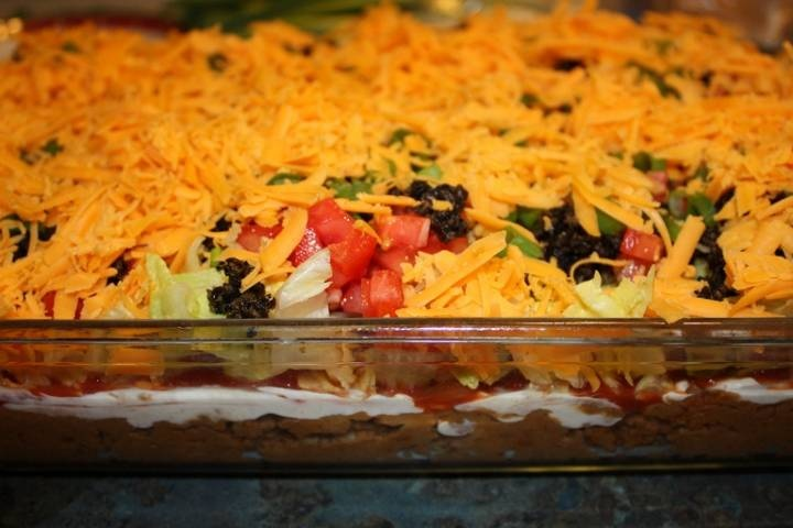 Seven Layer Bean Dip! | Yummy Food & Drinks | Pinterest