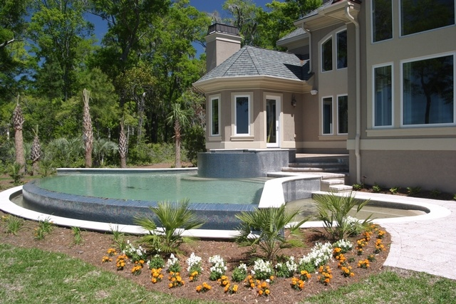 backyard infinity pool gardening and outdoor living pinterest