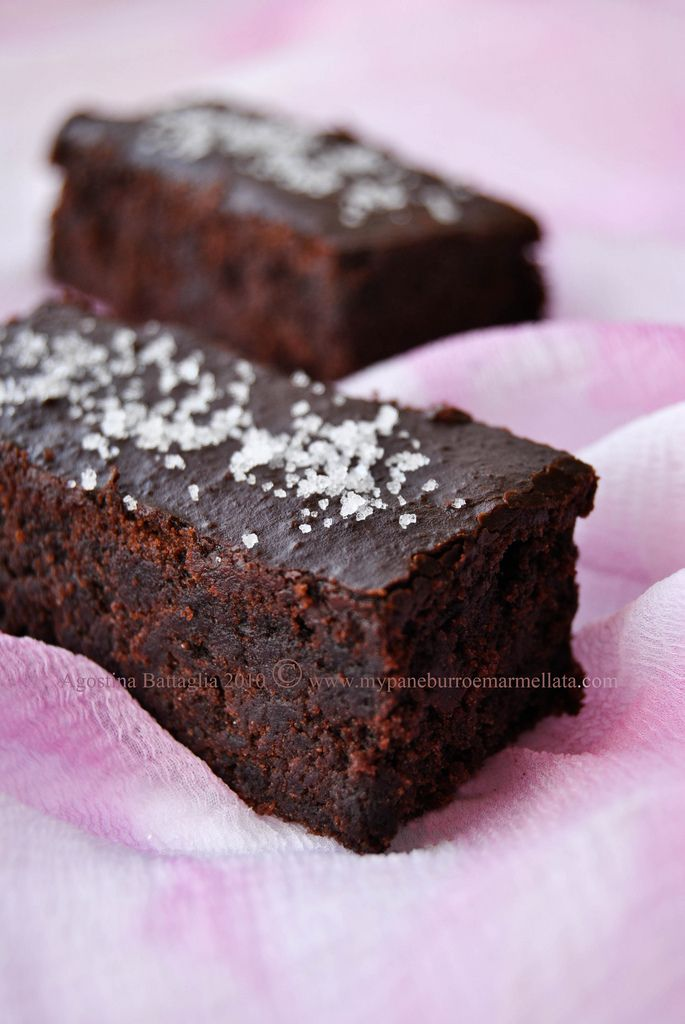 chocolate brownies with fleur de sel | Recipes - Sweet treats | Pinte ...