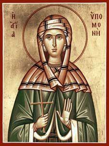 St. Ypomoni- Patron Saint for Help with Patience