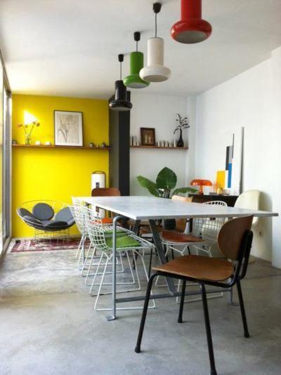 Une couleur, salle à manger