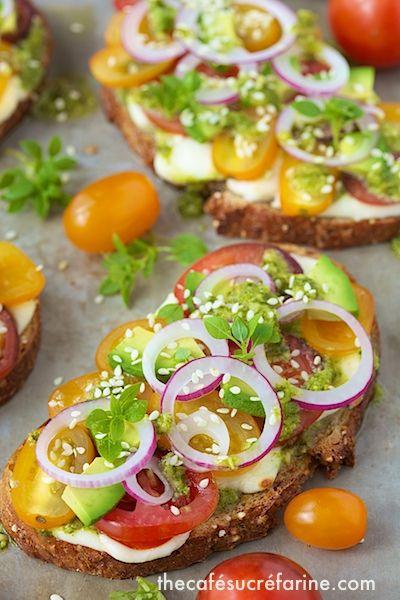 The Café Sucré Farine: Tomato, Avocado & Fresh Mozzarella Tartines