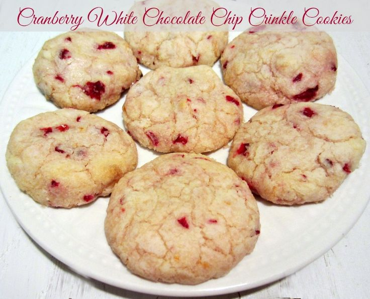 Cranberry White Chocolate Chip Crinkle Cookies | Recipe